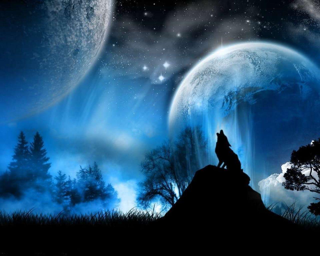 Dibujo 3d de lobos 1280x1024 fondos de pantalla y for Imagenes para fondo de escritorio 3d