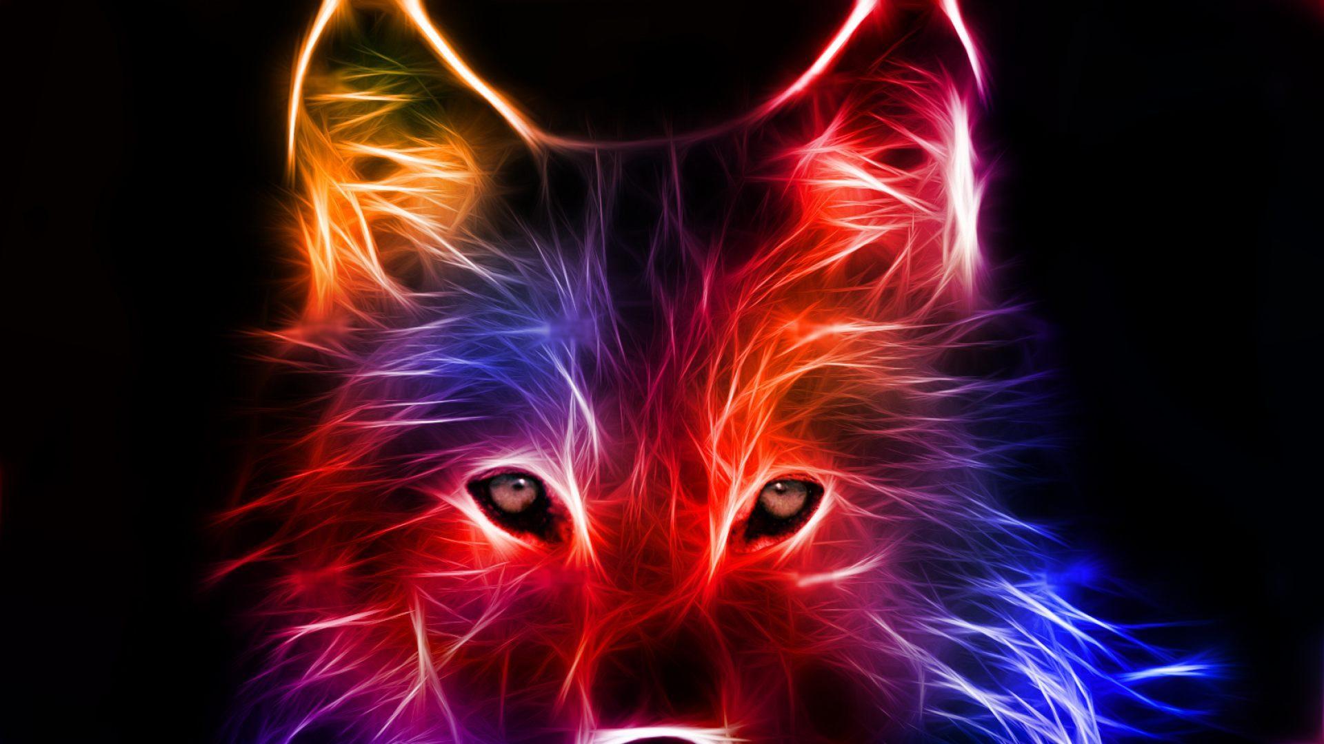 Imagenes De Lobo Para Fondo De Pantalla: Lobo Artístico De Colores